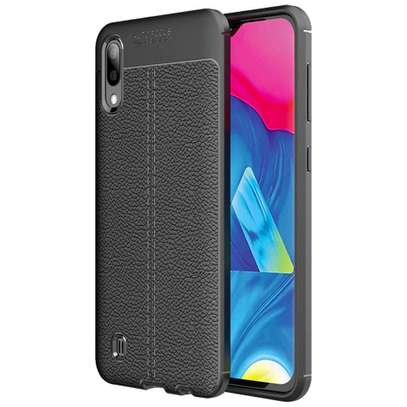 Auto Focus Leather Pattern Soft TPU Back Case Cover for Samsung M10 M20 M30 image 5