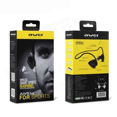 Awei A840BL Wireless Sport Bluetooth 4.0 Sweatproof Earphones With Mic image 3