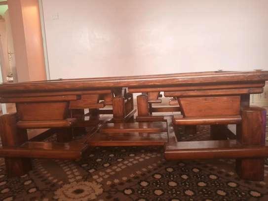 Pure Mahogany Coffee Table and 2 Stools image 5