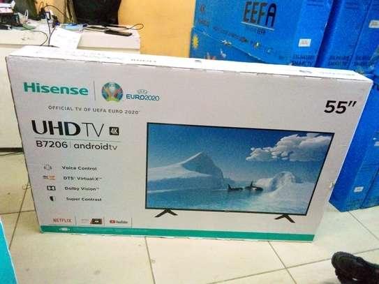 Hisense 55 inch smart Android 4k uhd led tv image 1