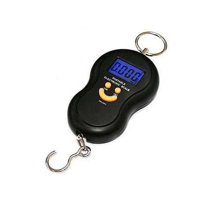 UNIVERSAL Portable 50kg/5g LCD Digital Fish Hanging Luggage Weight Hook Scale-Black image 1