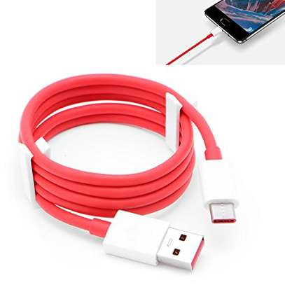 Original For Oneplus 7 7T 7T Pro Warp Charger Cable Usb Type-C Cable Quick Red 1m Charge power data cable image 2