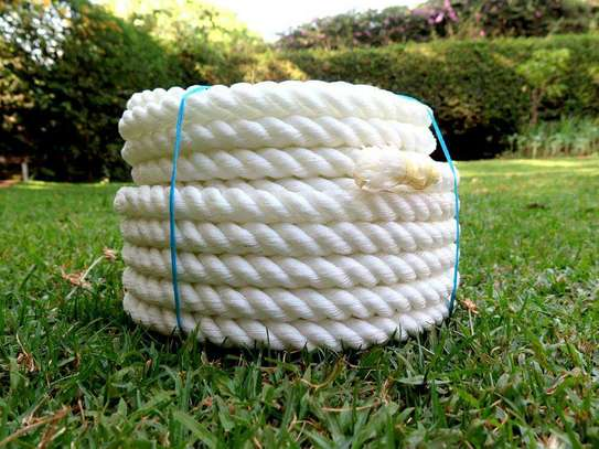 ONLY HAVE ONE LEFT TO SELL! Nylon Twisted Rope / Nylon 3-Strand Rope / White Nylon Rope!