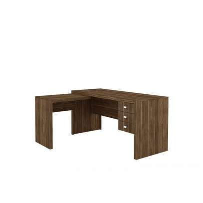 Reversible Office Desk - Tecno Mobili - Almond