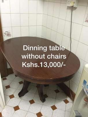 Dinning table without chairs