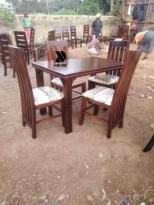 4 seater Mahogany Frame dining set. image 3