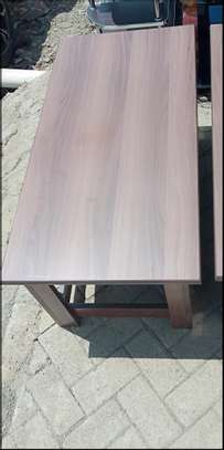 Coffee table with wide storage shelf image 1