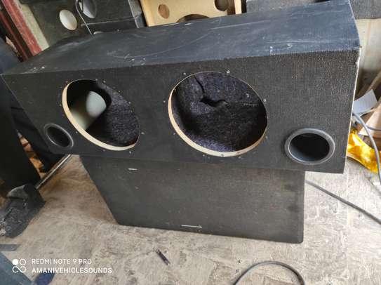 Car Audio Dual 12 Inch Vented Subwoofer Enclosure Stereo Speaker Sub Box. image 1