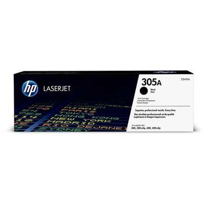 HP 305A Black Original LaserJet Toner Cartridge (CE410A) image 1