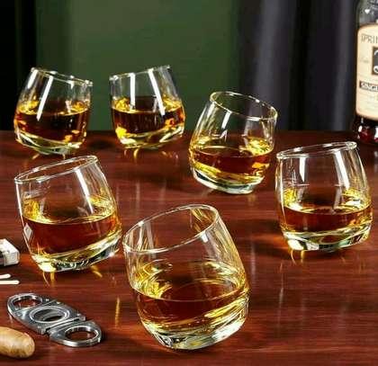 Slanding whisky glass image 1