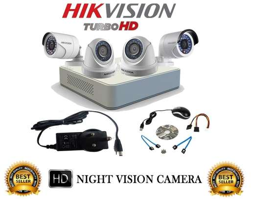4 CCTV 720P CAMERA COMPLETE SET -(With Night Vision) image 2