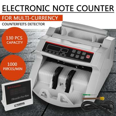 Money Cash Counting Bill Counter Bank Counterfeit Detector UV & MG Machine image 1