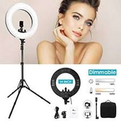 14Inch LED Ring Light Dimmable Lighting Kit Phone Selfie Tripod Stand image 1
