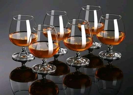 6pcs Cognac Brandy Glass transparent image 1