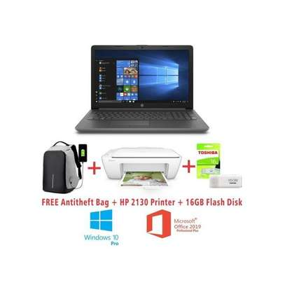 "HP 15 Notebook-Intel Celeron (N3060)-WINDOWS 10 PRO+MS OFFICE ANTIVIRUS-4GB RAM-500GB HDD-15.6""-Black+Free Anti-theft Backpack+16GB Flash Disk+HP 2130 Printer"