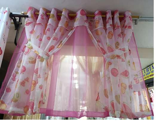 pink kitchen Curtains image 1