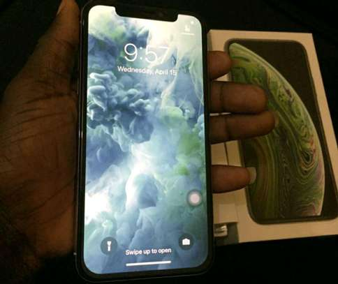 Apple Iphone Xs Max  / 512 Gigabytes / Silver And Wireless Airpods image 2