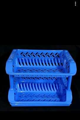 Plastic double layer dish rack image 1