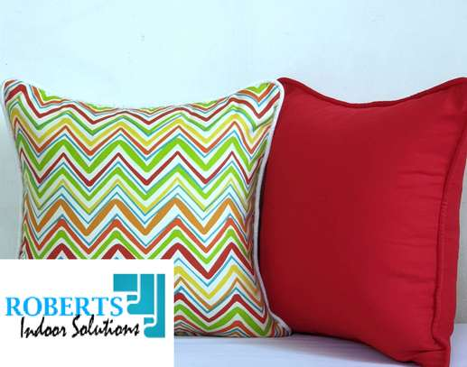 light green and red throw pillow image 1