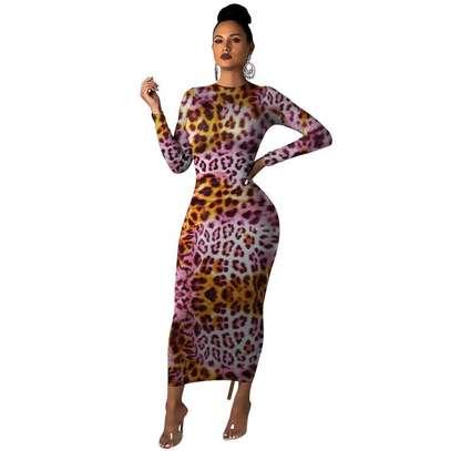 Leopard Print Maxi Dress image 3