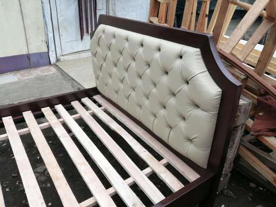 5 by 6 deep button leather bed image 3
