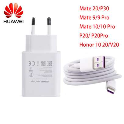Huawei  9V/2A Fast Charge Adapter Type C USB Cable image 1