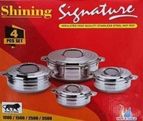4PC Stainless Steel Signature Hot Pot