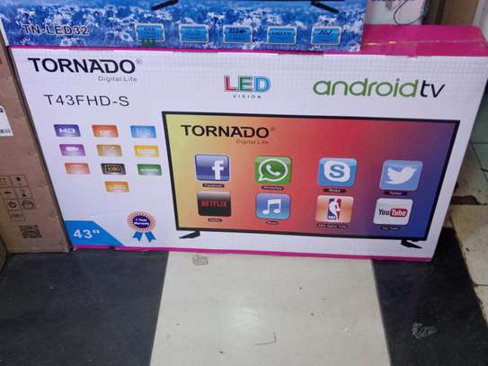 Tornado Smart 43 Inch Android TV With Netflix YouTube WiFi Smart Apps Brand New