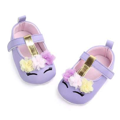 Cute PU leather baby girl shoes image 3