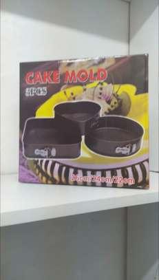 Non stick Cake Mold - 3pcs image 1