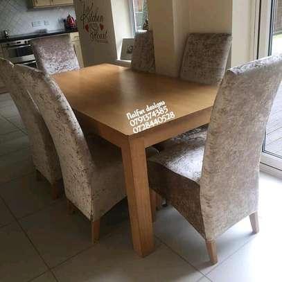 Modern diningroom dining set design/dining set/six seater dining table image 1