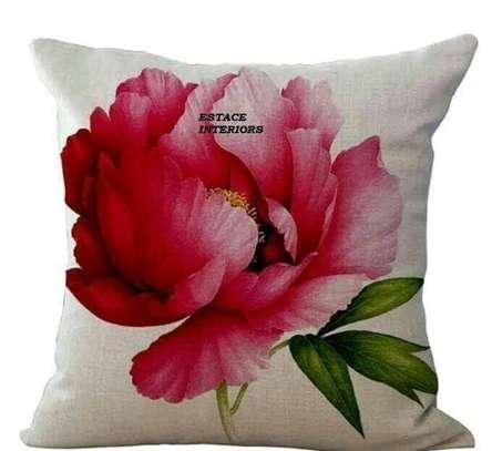 Decorative Floral Print Throw Pillows image 6