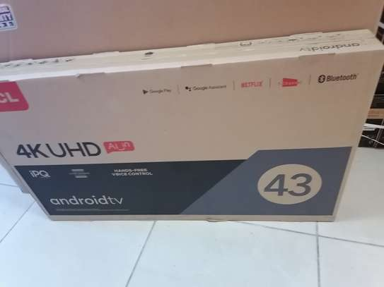 Brand new 43 inch tcl smart android 4k uhd TV image 1