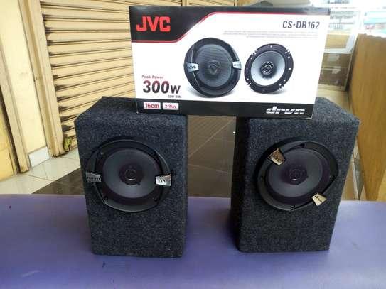 JVC car door speaker 300w cs-dr162 with cabinet image 1