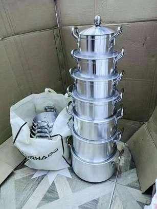 *14pcs tornado Aluminium Cookware set* image 1