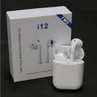i12 TWS Wireless Earphones Bluetooth Earphones Wireless Headset Touch Key for smart phones image 1