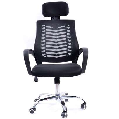 High back adjustable chair with headrest image 1