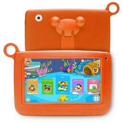 Generic 758 Kids Education Tablet PC With Bracket 7.0 Inch 512MB+16GB Android 4.4 - Orange image 1