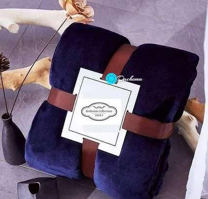navy blue fleece blankets image 1