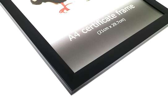 A4 Certificate Photo/Picture Frame, Classic Black image 4