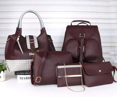 Amazing 5 in 1 Pure leather Handbags image 6