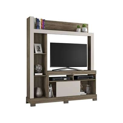 TV Wall Unit Rack Bela NT1025 - TV space up to 43'' - CINNAMON/SAND image 1
