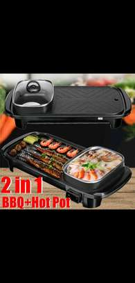 2 in 1 Electric hot pot+BBQ oven image 1