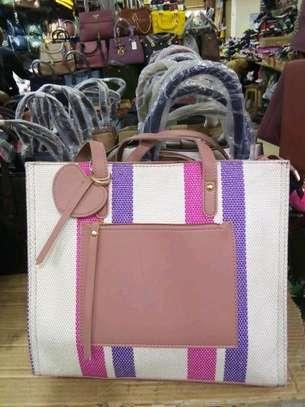 Purple and white  classic handbags image 1