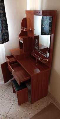 Wood dressing desk brown image 1