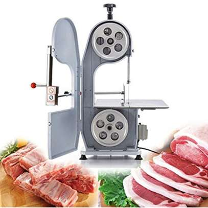 Commercial Electric Bone Cutting Machine, 1100W Automatic Band Saw Meat Cutter Machine Stainless Steel Slicer Meat Cutting Butcher for Cutting Fish Trotters Steak Frozen Meat Bone image 1