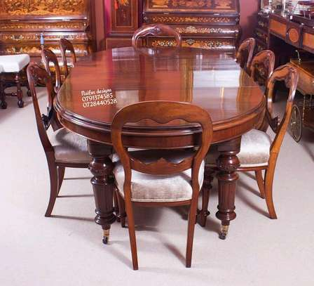 Eight seater dining set/mahogany dining set image 1