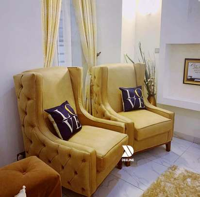 Wingback Accent Chairs. image 5