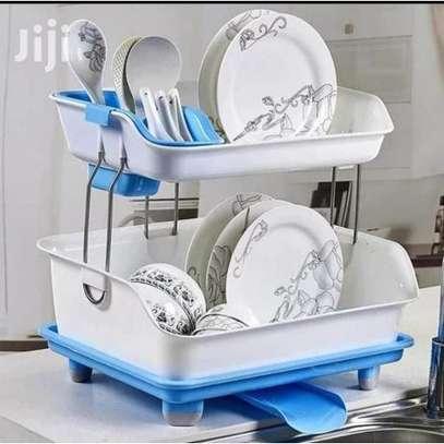 2 Layer Plastic Dish Rack image 1