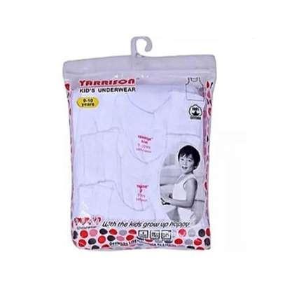3pack white kids cotton vests image 3